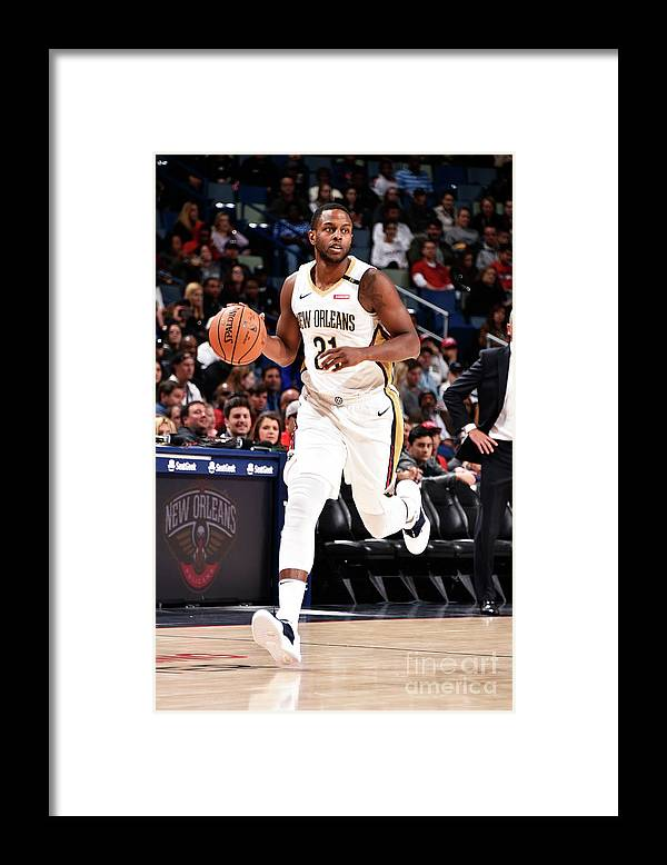 Smoothie King Center Framed Print featuring the photograph Darius Miller by Bill Baptist