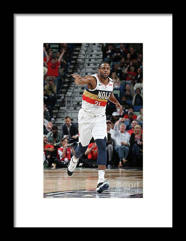 Smoothie King Center Framed Print featuring the photograph Darius Miller by Layne Murdoch Jr.