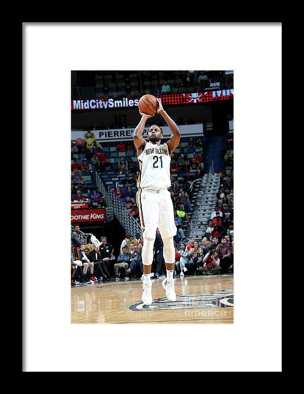 Smoothie King Center Framed Print featuring the photograph Darius Miller by Layne Murdoch