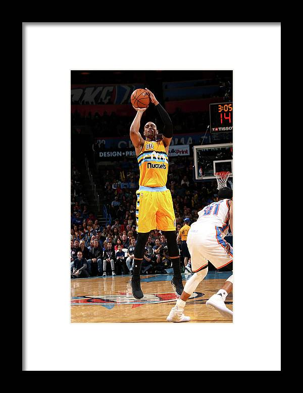 Nba Pro Basketball Framed Print featuring the photograph Darrell Arthur by Layne Murdoch