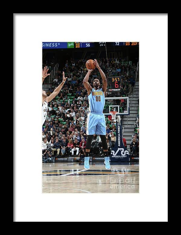 Nba Pro Basketball Framed Print featuring the photograph Darrell Arthur by Melissa Majchrzak