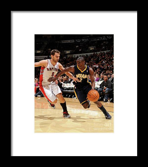 Nba Pro Basketball Framed Print featuring the photograph Darren Collison by Ron Turenne