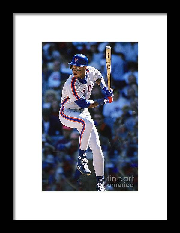 1980-1989 Framed Print featuring the photograph Darryl Strawberry by Ronald C. Modra