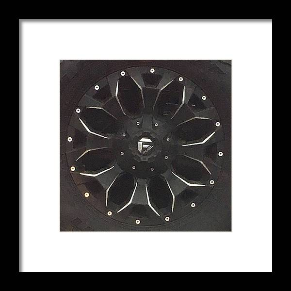 Photograph Framed Print featuring the photograph Darth Vader On Wheels by Richard Wetterauer