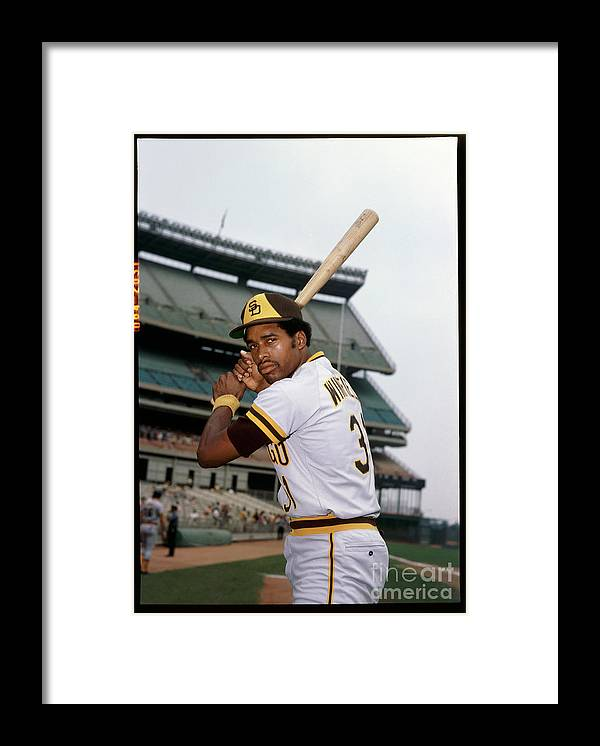 Sports Bat Framed Print featuring the photograph Dave Winfield by Louis Requena