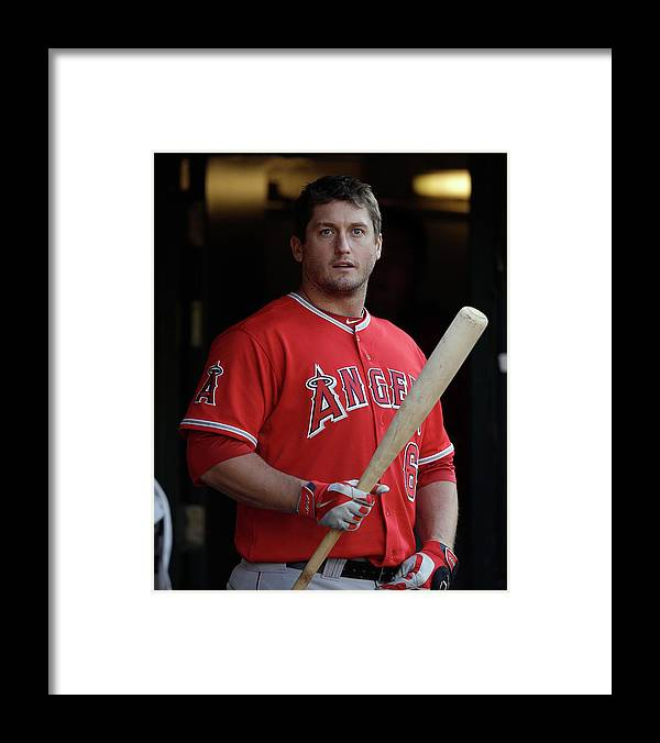 American League Baseball Framed Print featuring the photograph David Freese by Ezra Shaw