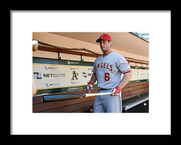 American League Baseball Framed Print featuring the photograph David Freese by Thearon W. Henderson