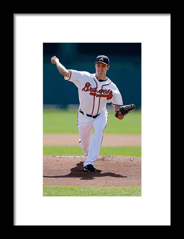 American League Baseball Framed Print featuring the photograph David Hale by Stacy Revere