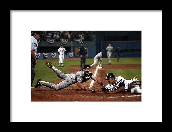 Atlanta Framed Print featuring the photograph David Justice by Ronald C. Modra/sports Imagery