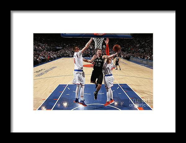 Nba Pro Basketball Framed Print featuring the photograph David Lee by Nathaniel S. Butler
