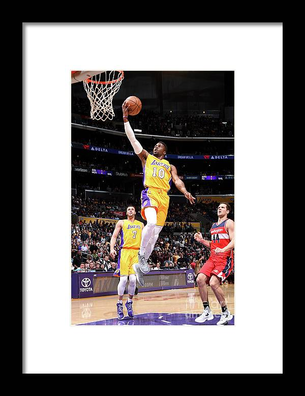 Nba Pro Basketball Framed Print featuring the photograph David Nwaba by Andrew D. Bernstein