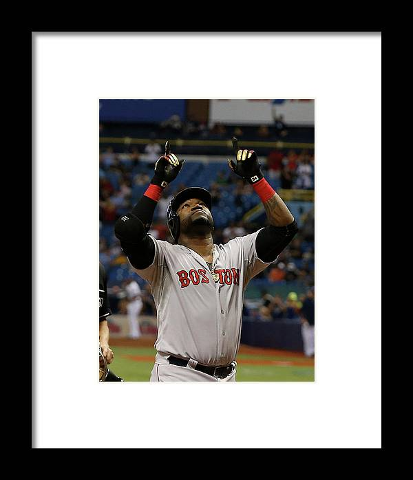 People Framed Print featuring the photograph David Ortiz And Matt Moore by Brian Blanco