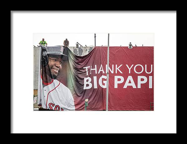 American League Baseball Framed Print featuring the photograph David Ortiz by Billie Weiss/boston Red Sox