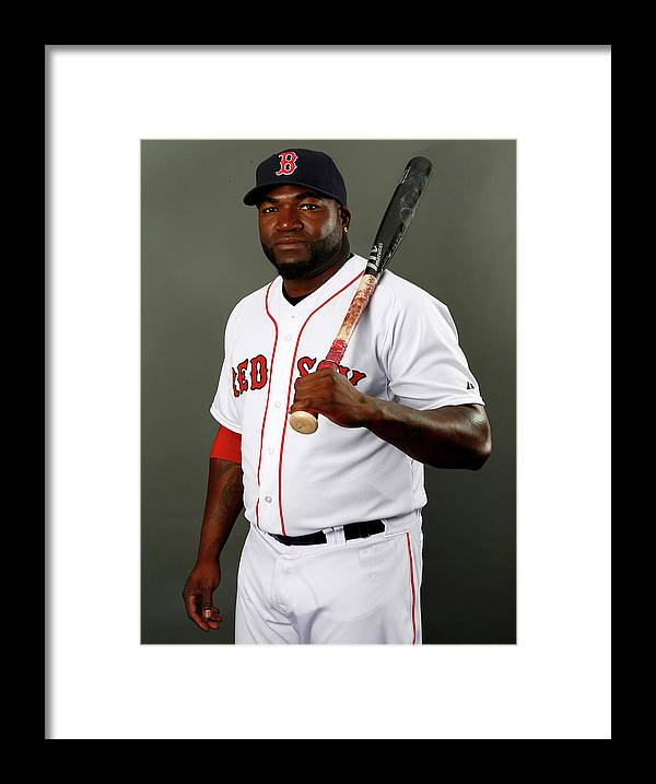 Media Day Framed Print featuring the photograph David Ortiz by Elsa