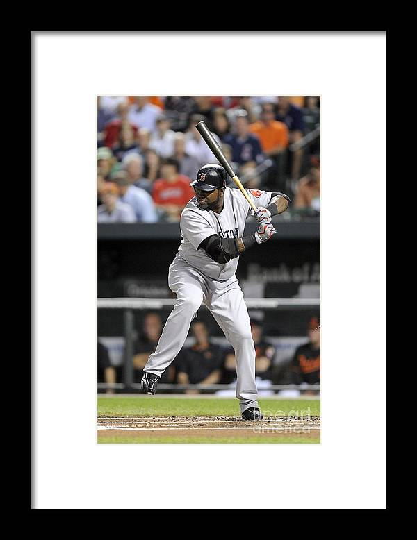 American League Baseball Framed Print featuring the photograph David Ortiz by G Fiume