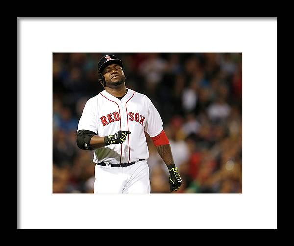 American League Baseball Framed Print featuring the photograph David Ortiz by Jim Rogash