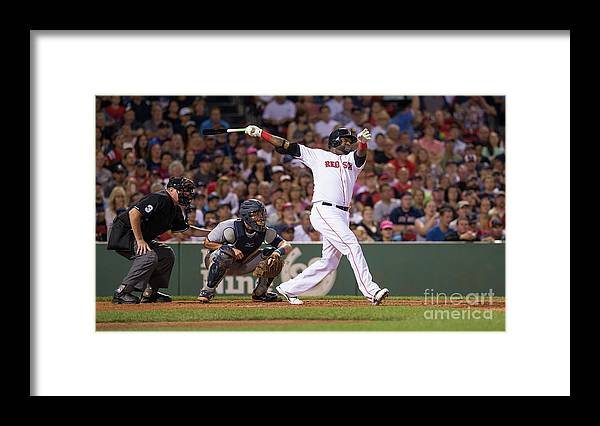 People Framed Print featuring the photograph David Ortiz by Rich Gagnon