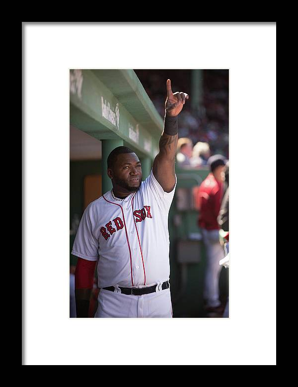 East Framed Print featuring the photograph David Ortiz by Rob Tringali