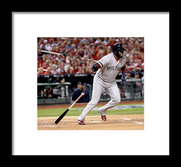 Playoffs Framed Print featuring the photograph David Ortiz by Ron Vesely