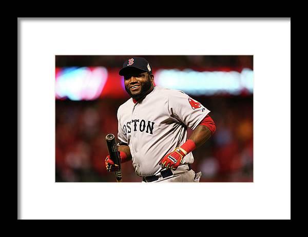 American League Baseball Framed Print featuring the photograph David Ortiz by Ronald Martinez