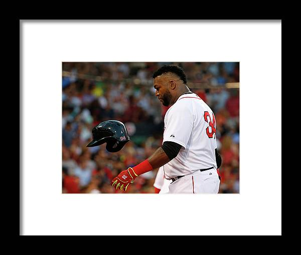 Headwear Framed Print featuring the photograph David Ortiz by Winslow Townson