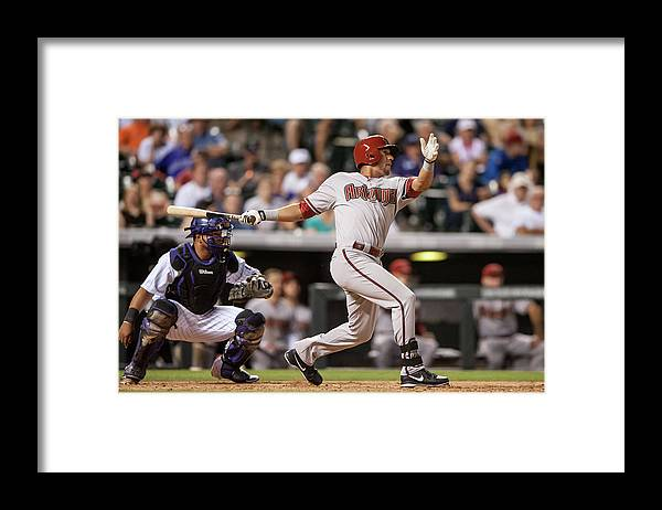 National League Baseball Framed Print featuring the photograph David Peralta by Dustin Bradford
