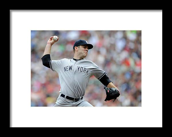American League Baseball Framed Print featuring the photograph David Phelps by Hannah Foslien