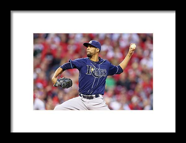 Great American Ball Park Framed Print featuring the photograph David Price by Andy Lyons
