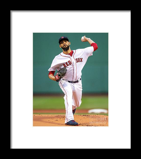 David Price Framed Print featuring the photograph David Price by Billie Weiss/boston Red Sox