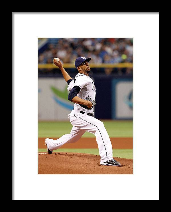David Price Framed Print featuring the photograph David Price by Brian Blanco