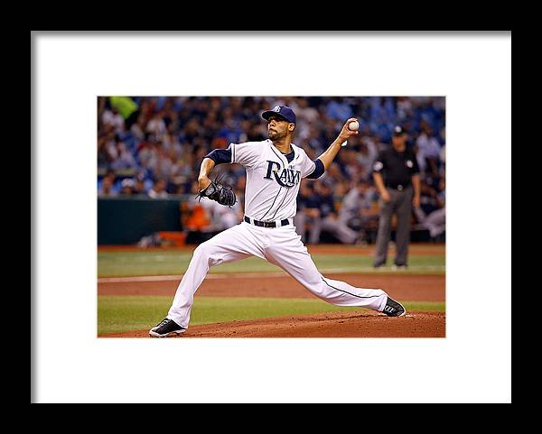 David Price Framed Print featuring the photograph David Price by J. Meric
