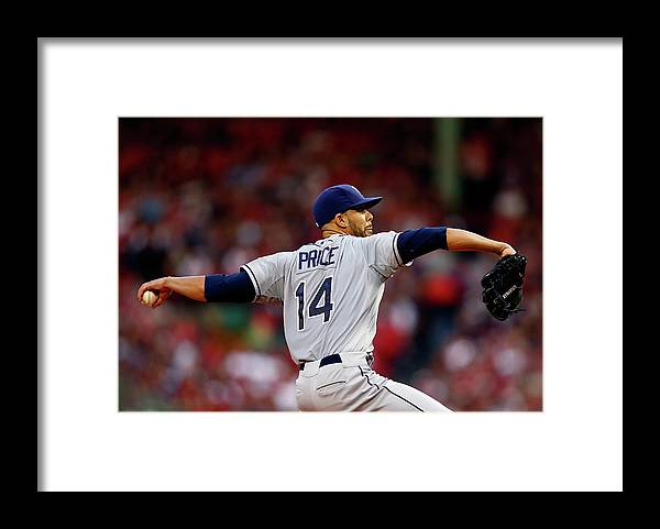 David Price Framed Print featuring the photograph David Price by Jared Wickerham