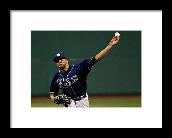 David Price Framed Print featuring the photograph David Price by Winslow Townson
