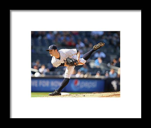 Ninth Inning Framed Print featuring the photograph David Robertson by Al Bello
