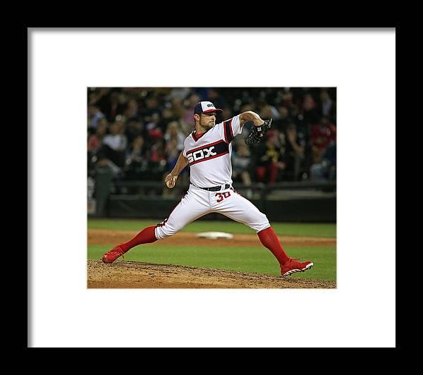 American League Baseball Framed Print featuring the photograph David Robertson by Jonathan Daniel