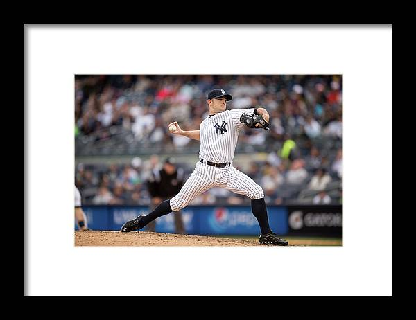 American League Baseball Framed Print featuring the photograph David Robertson by Rob Tringali