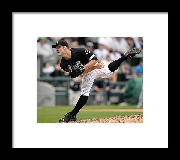 American League Baseball Framed Print featuring the photograph David Robertson by Ron Vesely