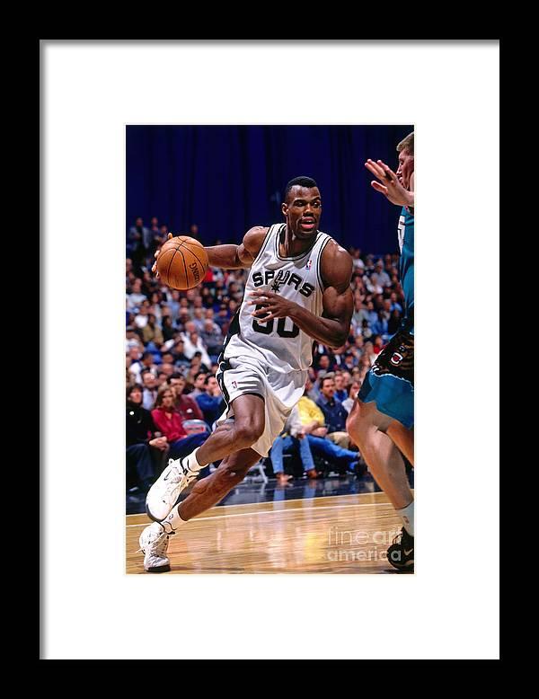 Nba Pro Basketball Framed Print featuring the photograph David Robinson by Chris Covatta
