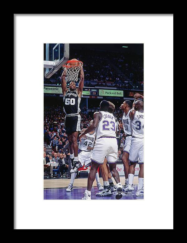 Nba Pro Basketball Framed Print featuring the photograph David Robinson by Rocky Widner