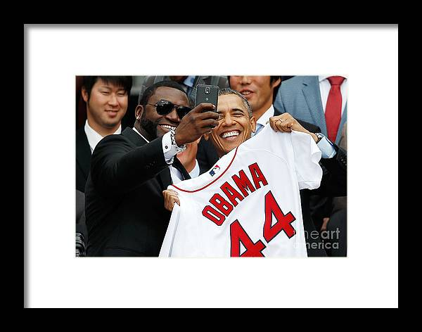 American League Baseball Framed Print featuring the photograph David Washington by Win Mcnamee