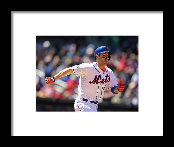 American League Baseball Framed Print featuring the photograph David Wright by Al Bello