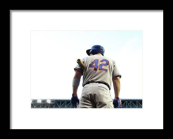 Baseball Uniform Framed Print featuring the photograph David Wright by Christian Petersen
