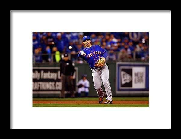 Second Inning Framed Print featuring the photograph David Wright by Jamie Squire