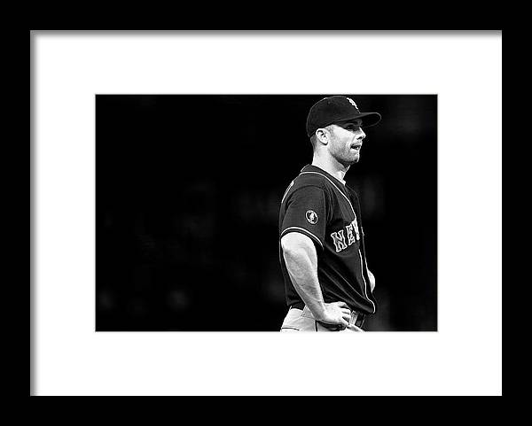 American League Baseball Framed Print featuring the photograph David Wright by Mike Ehrmann