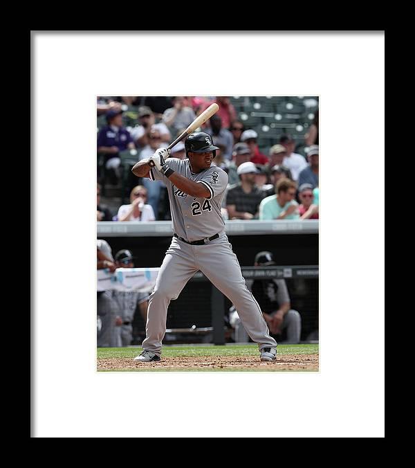 American League Baseball Framed Print featuring the photograph Dayan Viciedo by Doug Pensinger