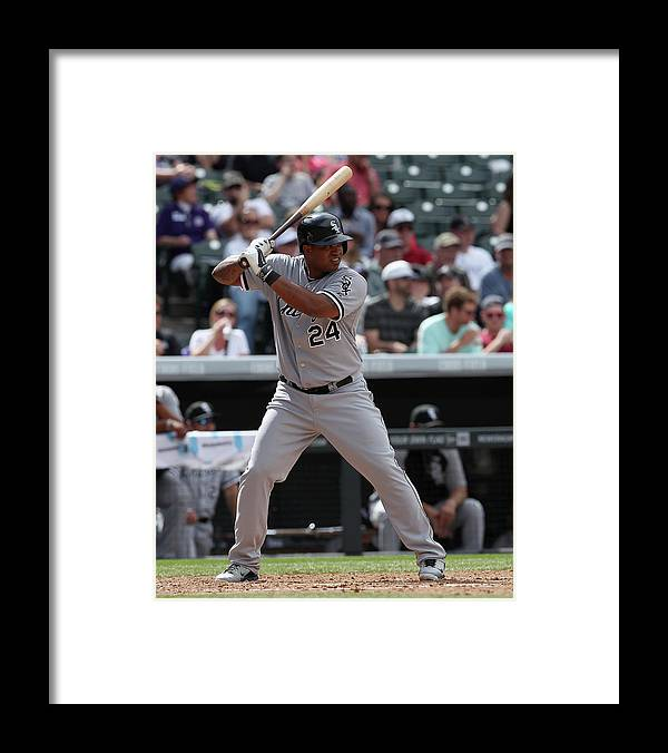 American League Baseball Framed Print featuring the photograph Dayan Viciedo by Doug Pensinger