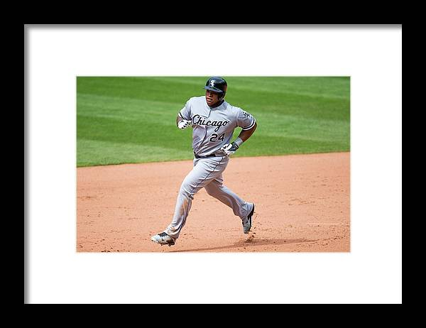 Ninth Inning Framed Print featuring the photograph Dayan Viciedo by Jason Miller