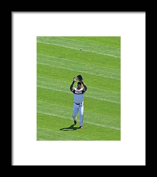 American League Baseball Framed Print featuring the photograph Dayan Viciedo by Jonathan Daniel
