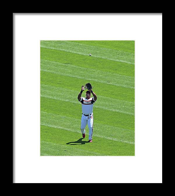 American League Baseball Framed Print featuring the photograph Dayan Viciedo by Jonathan Daniel