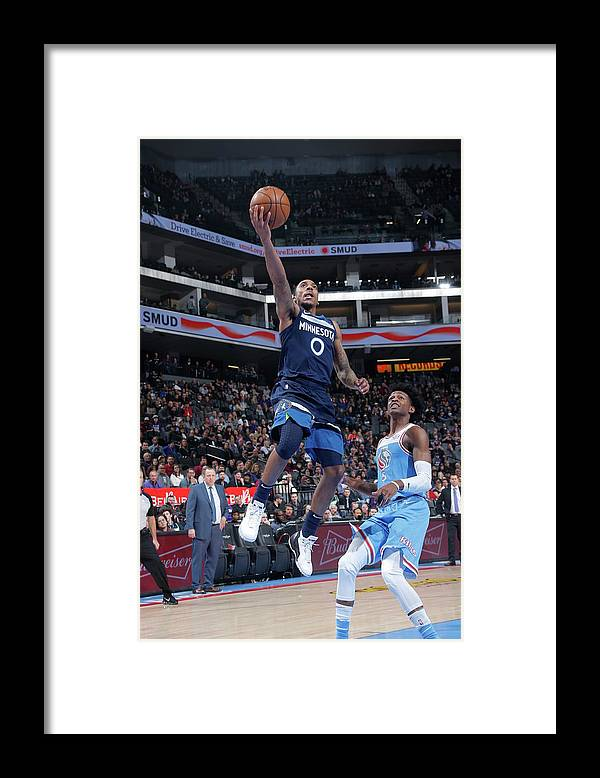 Nba Pro Basketball Framed Print featuring the photograph De'aaron Fox and Jeff Teague by Rocky Widner